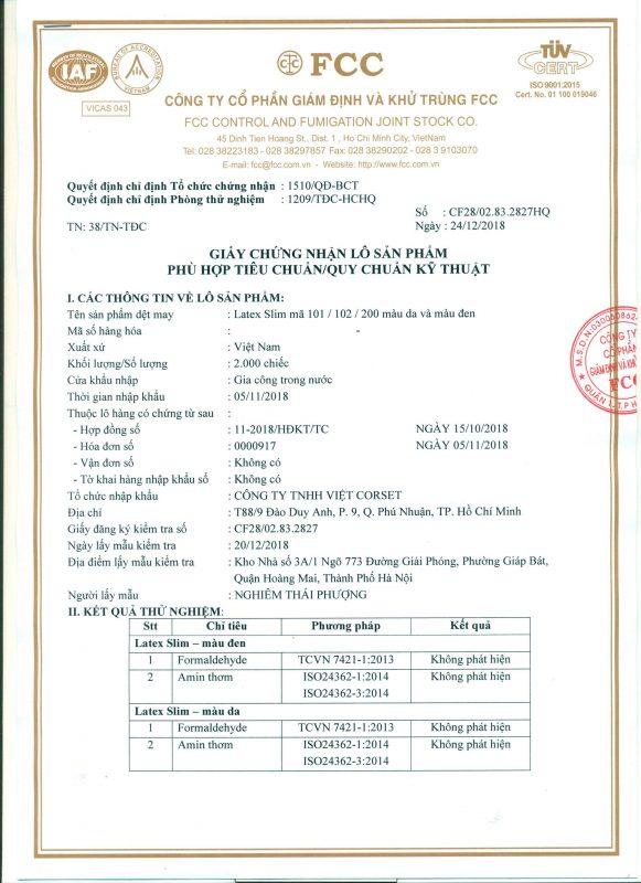 gen nịt bụng latex slim có giấy chứng nhận phù hợp tiêu chuẩn